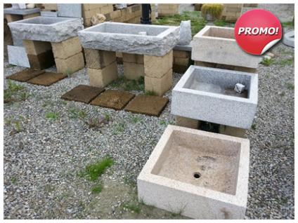 Lavandini in pietra naturale pietra di luserna estrazione lavorazione vendita online - Lavandino per giardino ...